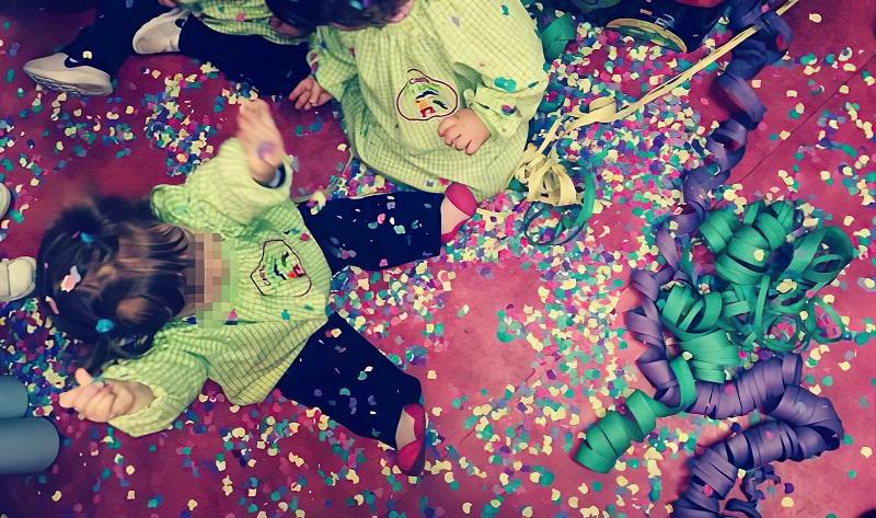 confeti guarderia la casita de la abuela